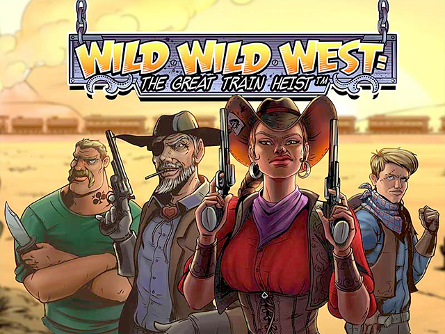 Игровой автомат Wild Wild West: The Great Train Heist от NetEnt